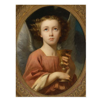 """An Angel Holding a Chalice"" Vintage Art Postcard"