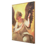 An Angel holding a Glass Flask Canvas Print