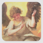 An Angel holding a Glass Flask Square Sticker