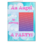 An Angel is Having a Party Invitation Card
