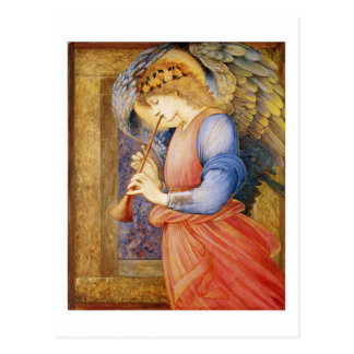 An Angel Playing a Flageolet - Edward Burne-Jones Postcard