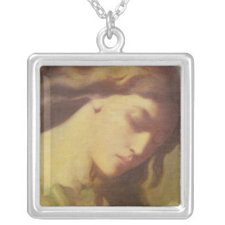 An Angel, study for the Mount of Olives, 1840 Silver Plated Necklace