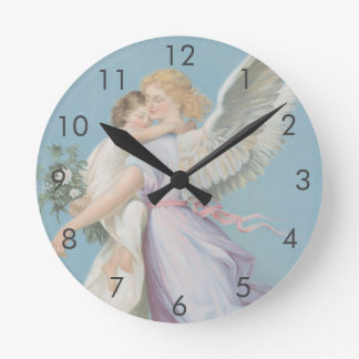 An Angel To Watch Over You (Medium) Wall Clock