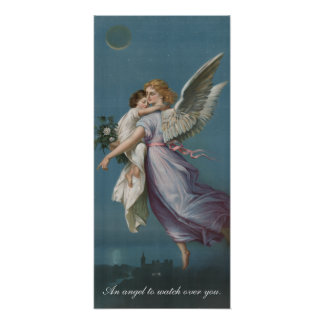 An Angel To Watch Over You Vintage Poster Art