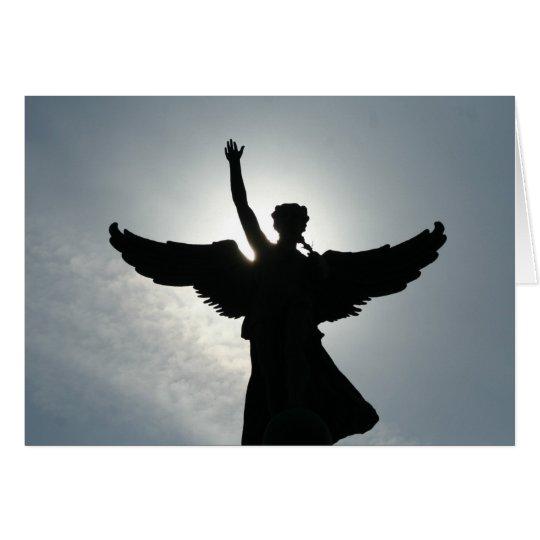 An Angel Waving Card