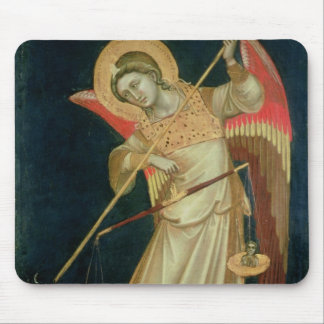 An Angel Weighing a Soul, c.1348-55 Mouse Mat