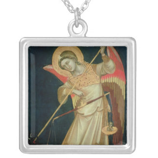 An Angel Weighing a Soul, c.1348-55 Silver Plated Necklace