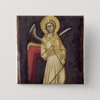 An Angel with a Demon on a Chain 15 Cm Square Badge