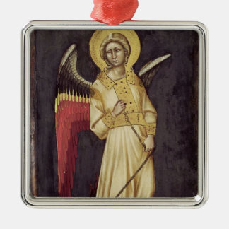 An Angel with a Demon on a Chain Christmas Ornament