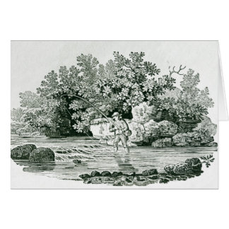 An Angler in a River Pool, from 'British Greeting Card