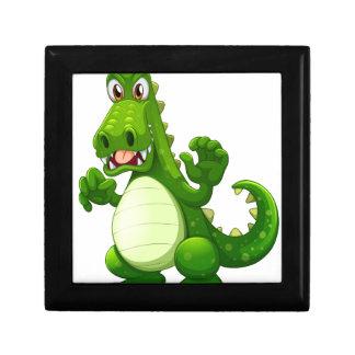 An angry crocodile small square gift box