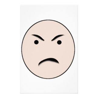 An Angry Face Stationery Design