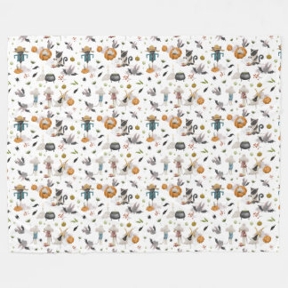 An Animal's Halloween Fleece Blanket