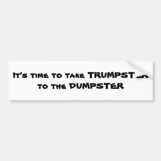 An anti trump bumper sticker