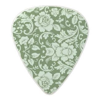 An antique floral damask acetal guitar pick
