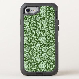 An antique floral damask OtterBox defender iPhone 8/7 case