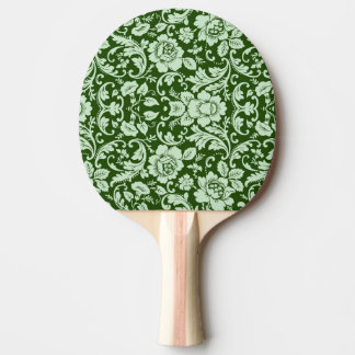 An antique floral damask ping pong paddle