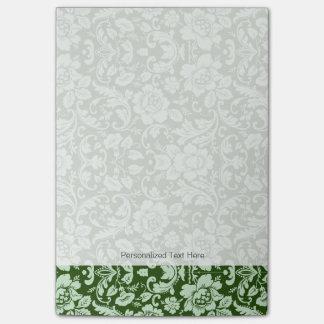An antique floral damask post-it notes