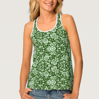 An antique floral damask tank top