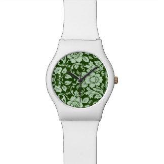 An antique floral damask watch