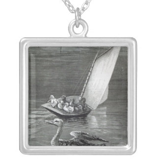 An Anxious Mother Silver Plated Necklace