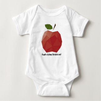 An Apple a Day Baby Jersey Bodysuit