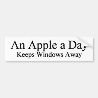 An apple a day bumper sticker