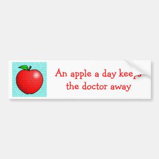 An Apple A Day Keeps The Doctor Away Bumper Sticker