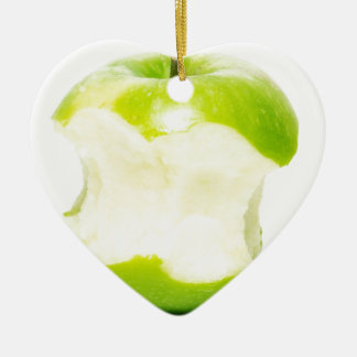 An apple a day keeps the doctor away ceramic heart decoration