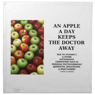 An Apple A Day Keeps The Doctor Away (Food Humor) Cloth Napkins