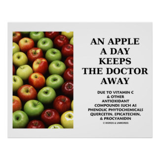 An Apple A Day Keeps The Doctor Away (Food Humor) Poster