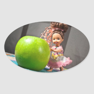 An Apple a Day Keeps the Doctor Away Oval Stickers