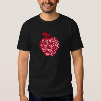 An apple a day keeps the doctor away tee shirt
