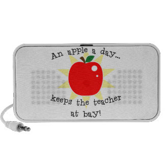 An apple a day keeps the teacher at bay portable speaker