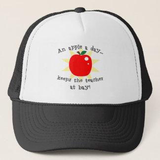 An apple a day keeps the teacher at bay trucker hat