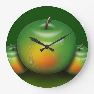 An Apple a Day Large Clock
