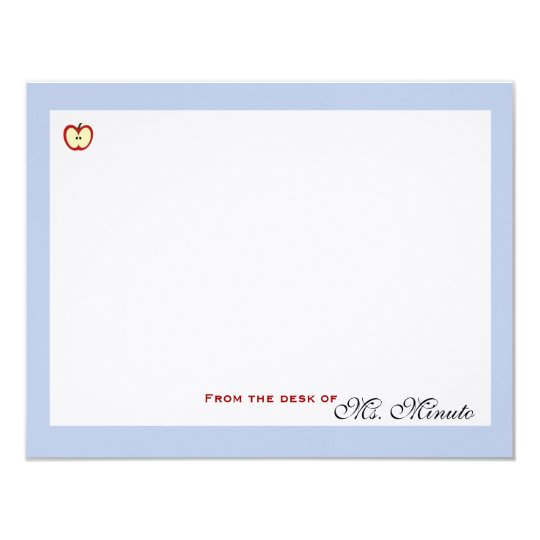 An Apple A Day Personalised Stationery Card