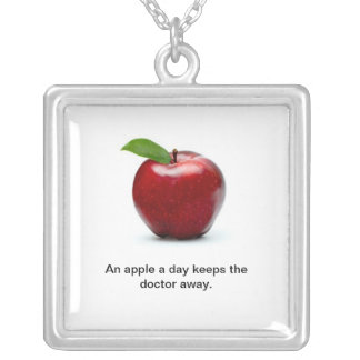 An Apple a Day Sterling Silver Necklace