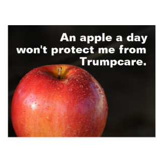 An apple a day to stop Trumpcare! Healthcare Postcard