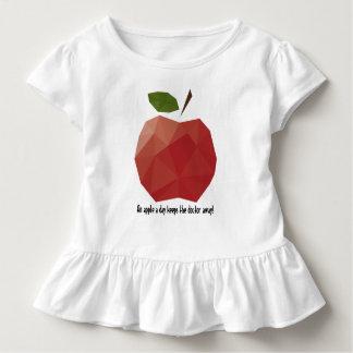 An Apple a Day Toddler Ruffle Tee