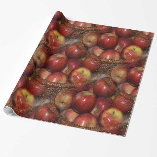 An apple a day wrapping paper