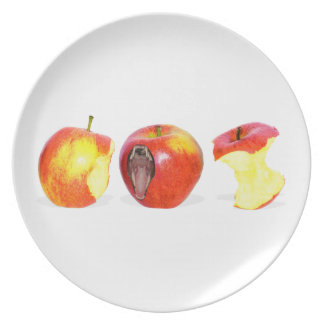 An Apple Eating Apple Party Plate