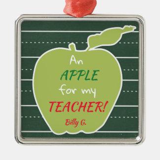 An Apple For My Teacher Christmas Ornament