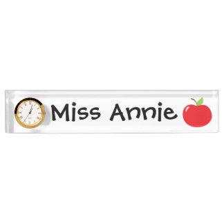 An Apple For Teacher Name Plate
