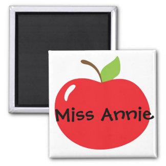 An Apple For Teacher Square Magnet