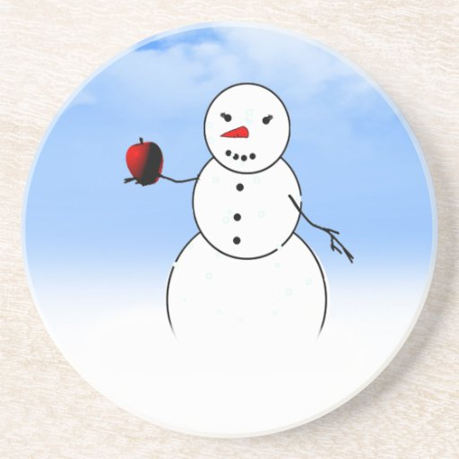 An Apple for the Teacher from Little Snowman Beverage Coasters