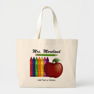 An Apple for the Teacher Tote by SRF Jumbo Tote Bag