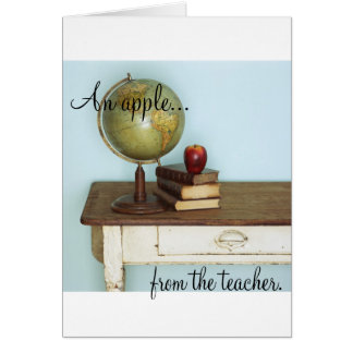 An Apple FROM the Teacher Card