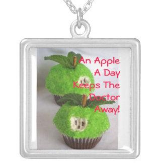 An Apple... Square Pendant Necklace