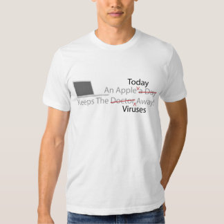 An Apple Today Keeps The Viruses Away - Colored T-shirt